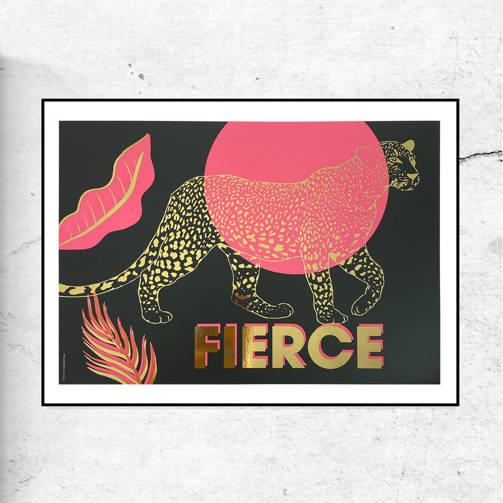 FIERCE II Leopard Gold Foil