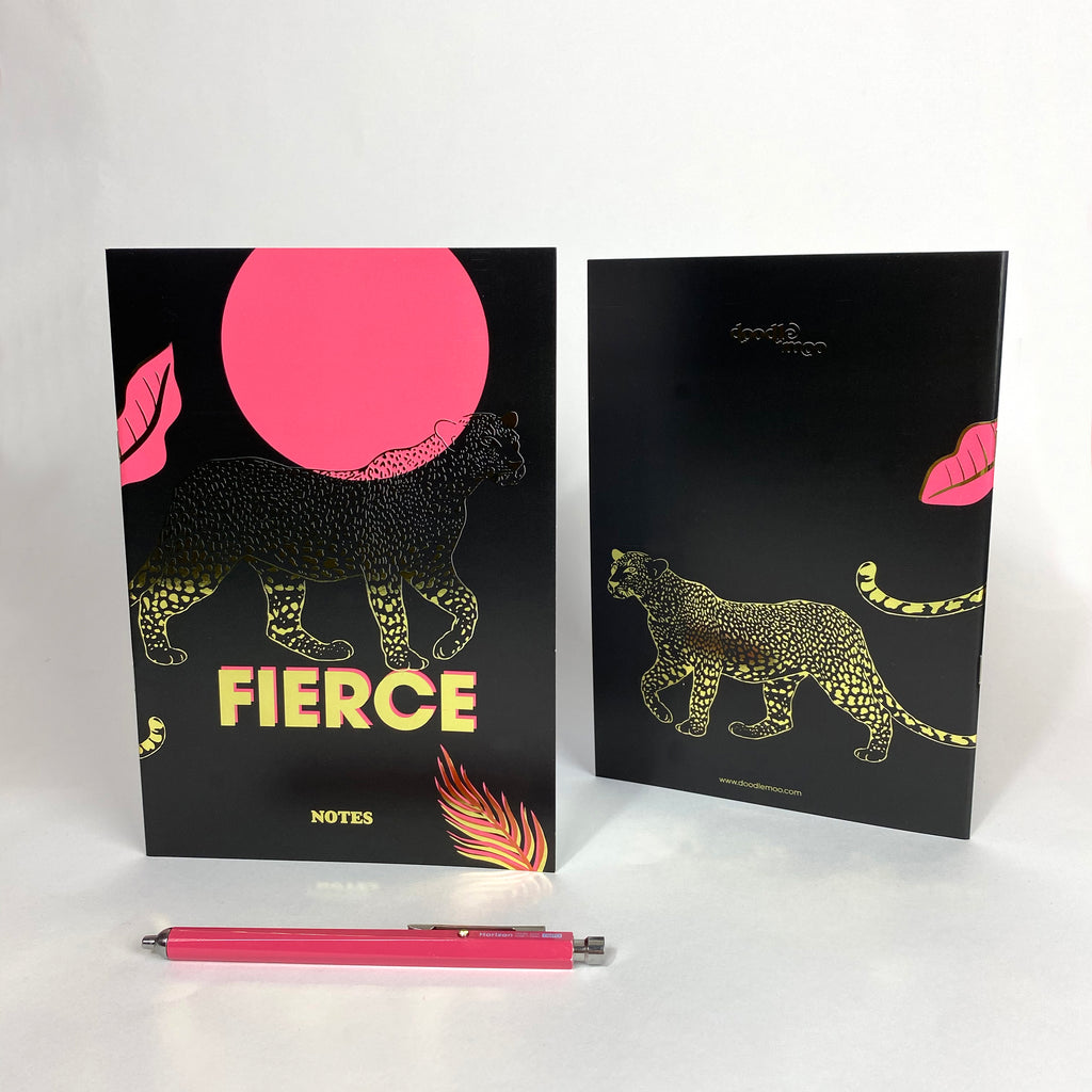 'Fierce' NoteBook with Gold foil details
