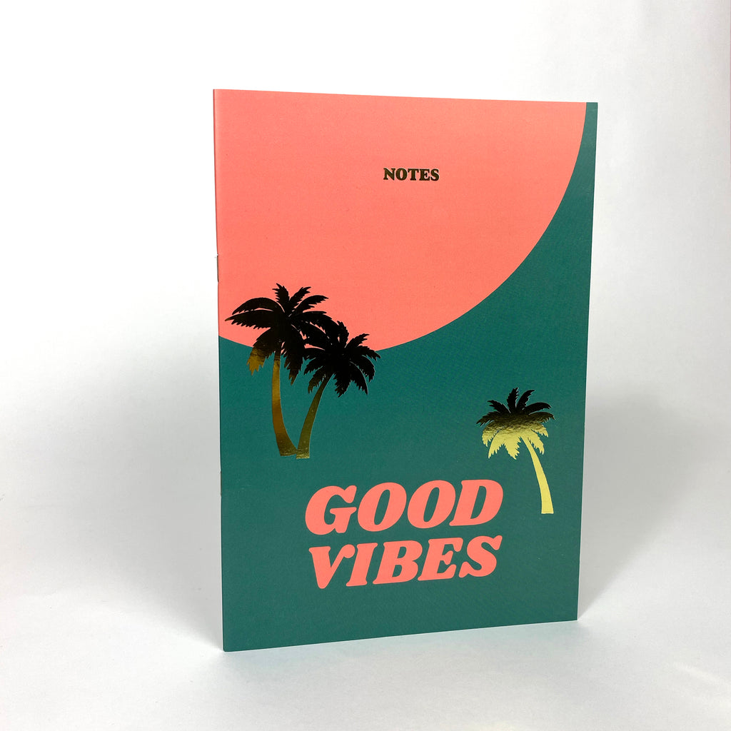 'Good Vibes' NoteBook with Gold foil details