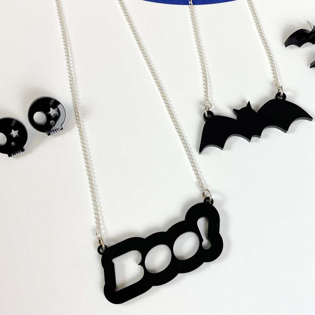 BOO! Necklace - Halloween necklace