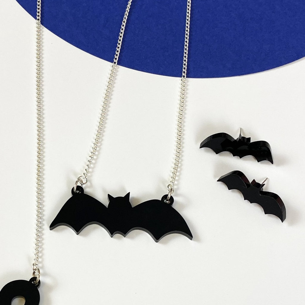 Bat Necklace - Halloween necklace
