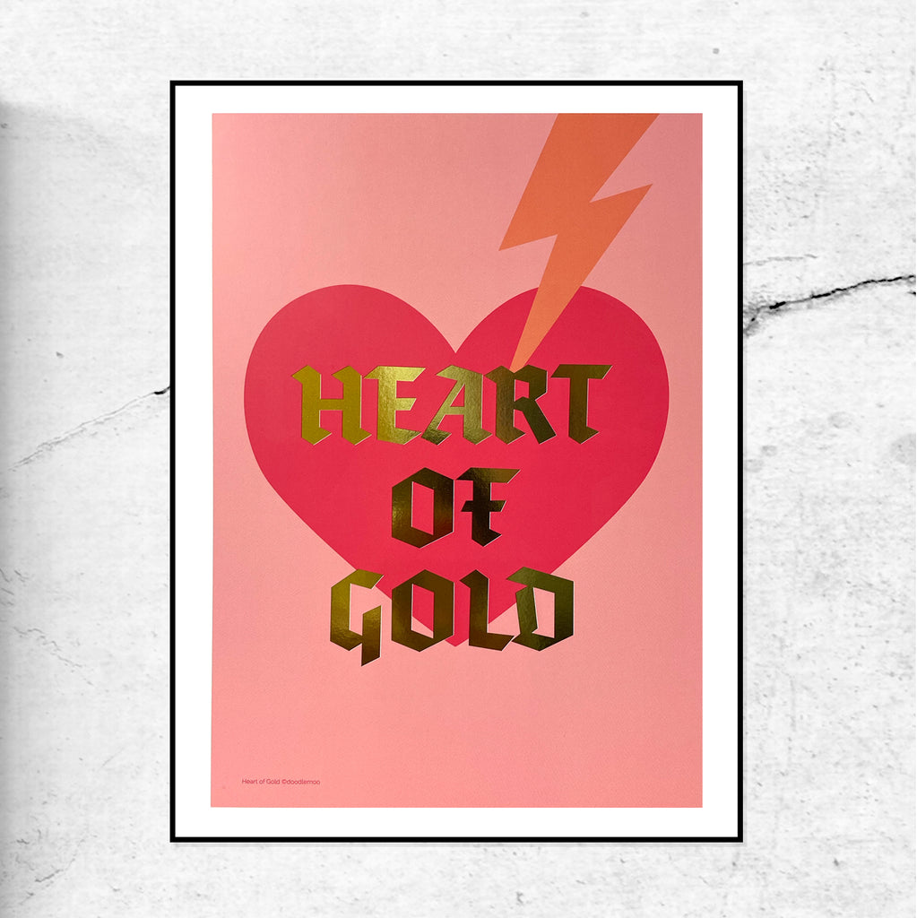 Heart of Gold - Gold Foil - Special Edition Print