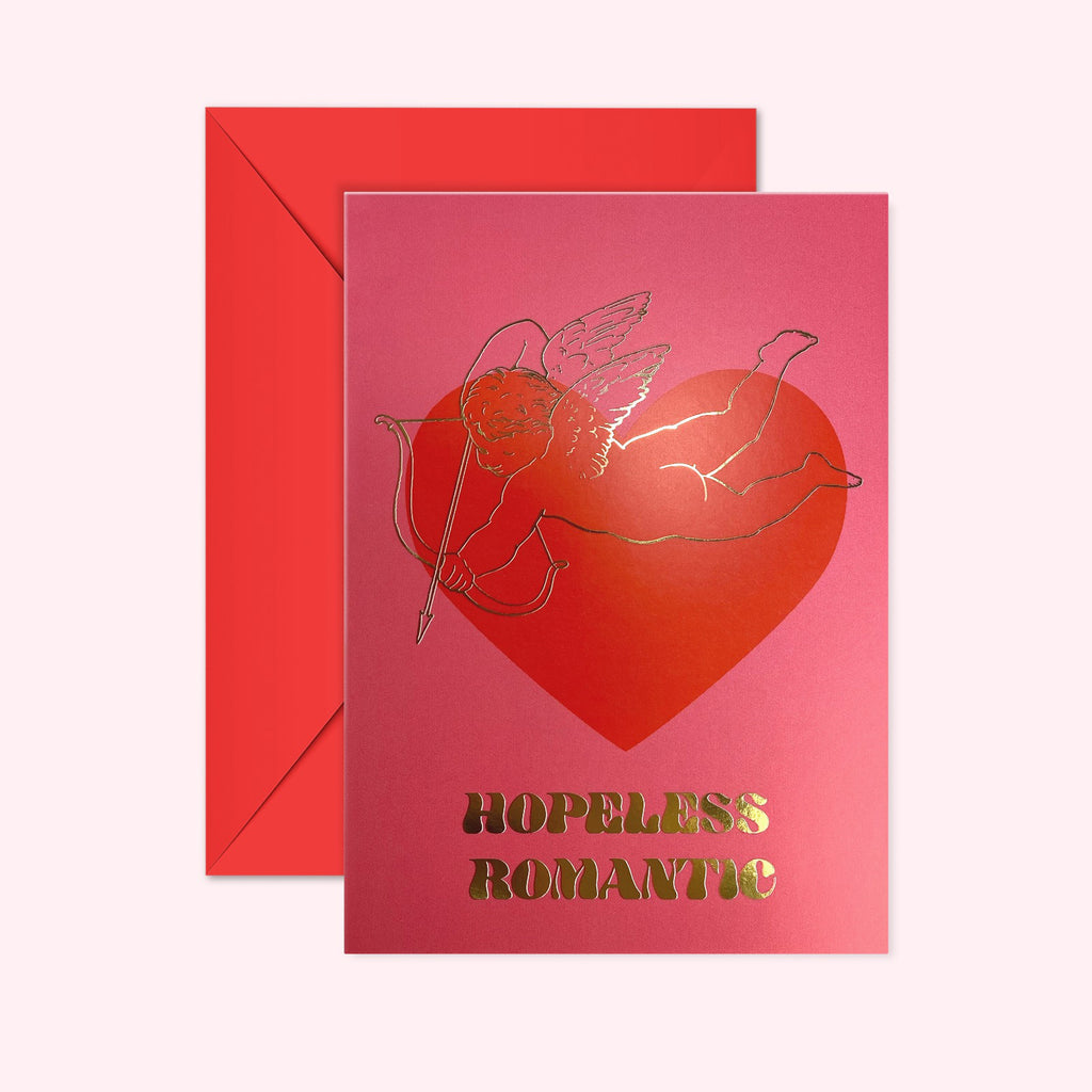 Hopeless Romantic - Gold Foil - Valentines Card