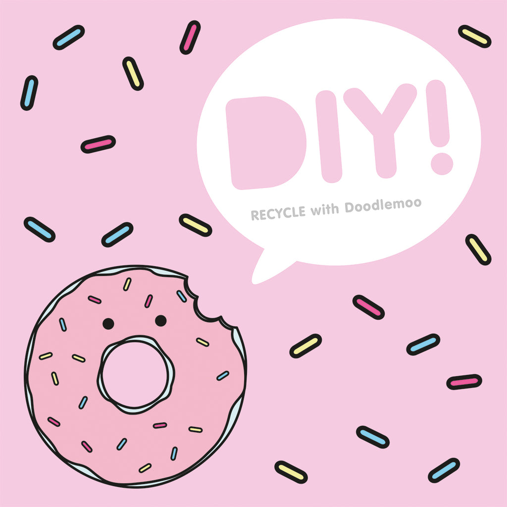 Hungry doughnut recycling box - free printable