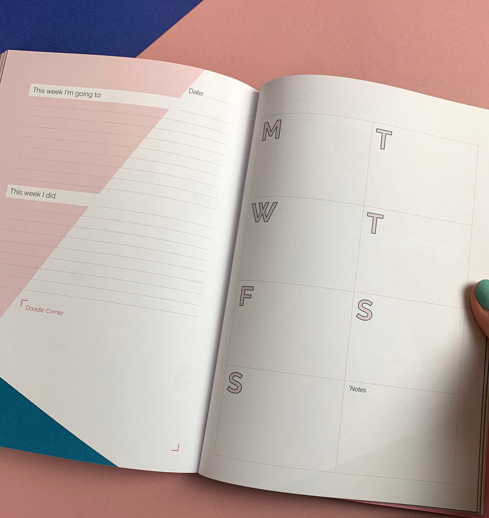 Creative Planner  'Lightning Bolt' - dateless weekly diary