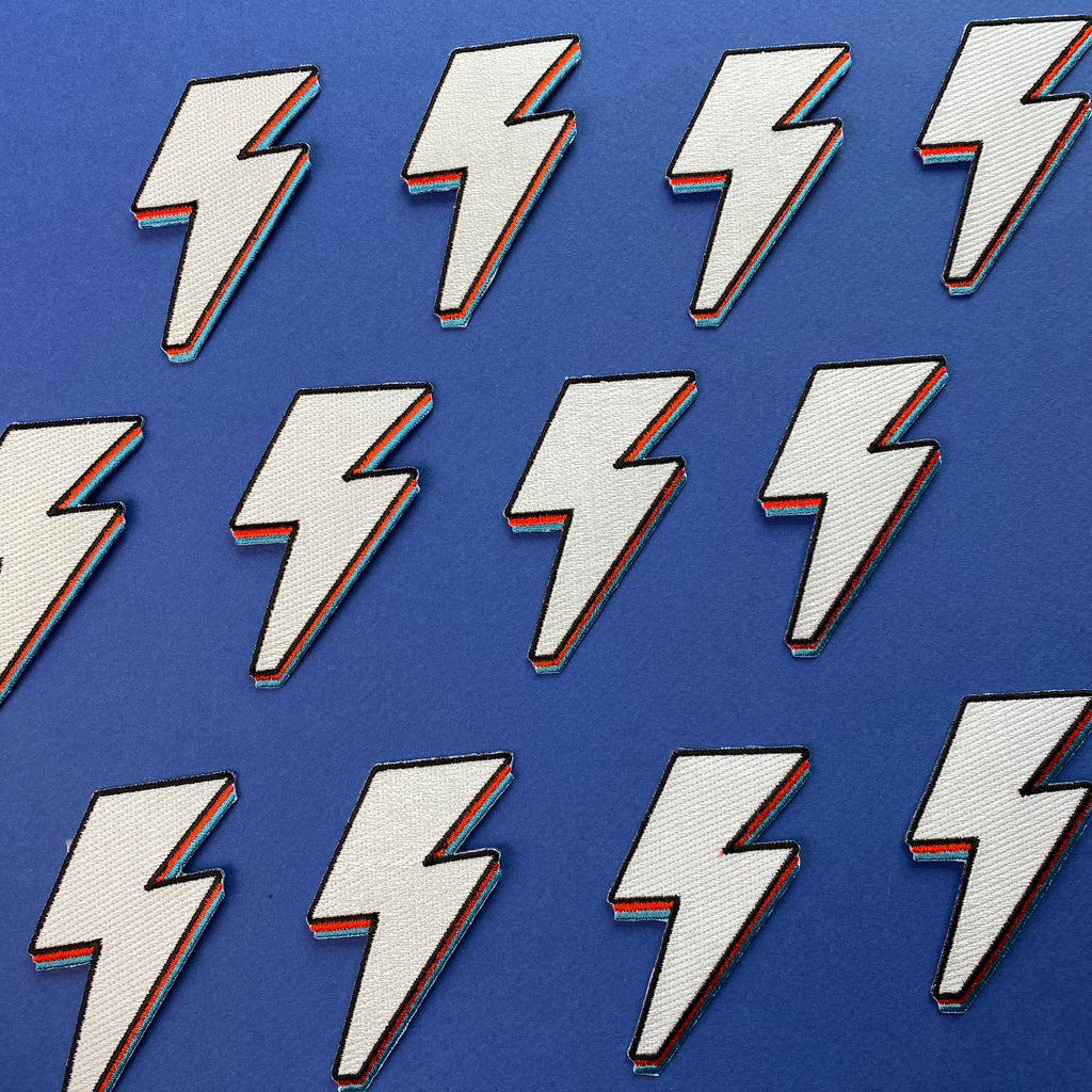 LIGHTNING BOLT PATCH; by doodlemoo