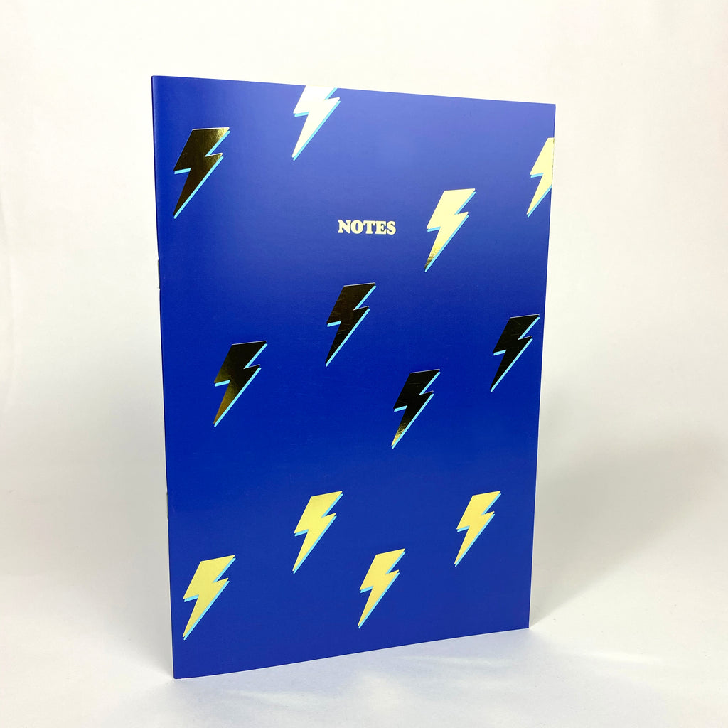 Lightning Bolts NoteBook with Gold foil details