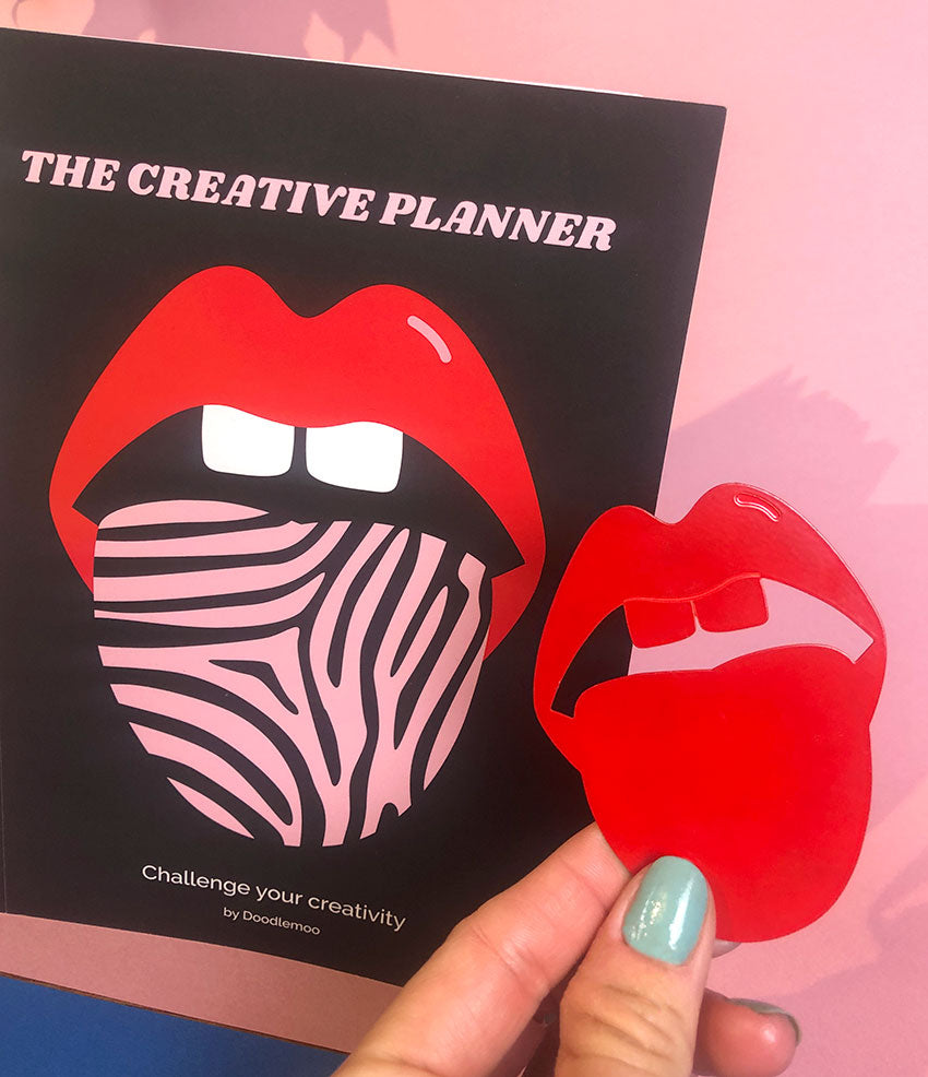 Lips bookmark and planner