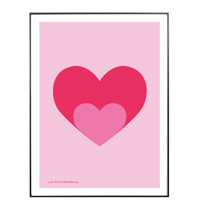 Love Shout print by Doodlemoo