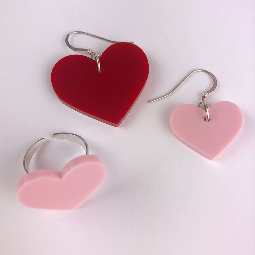 Love Shout ring and earrings