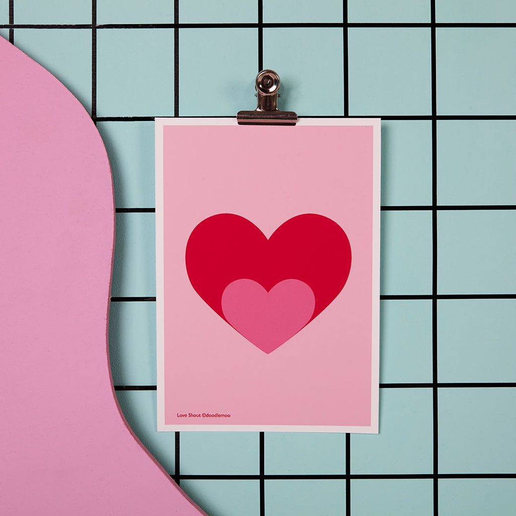 LOVE SHOUT; HEART PRINT/POSTER