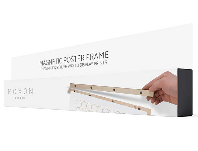 Magnetic picture frame packaging