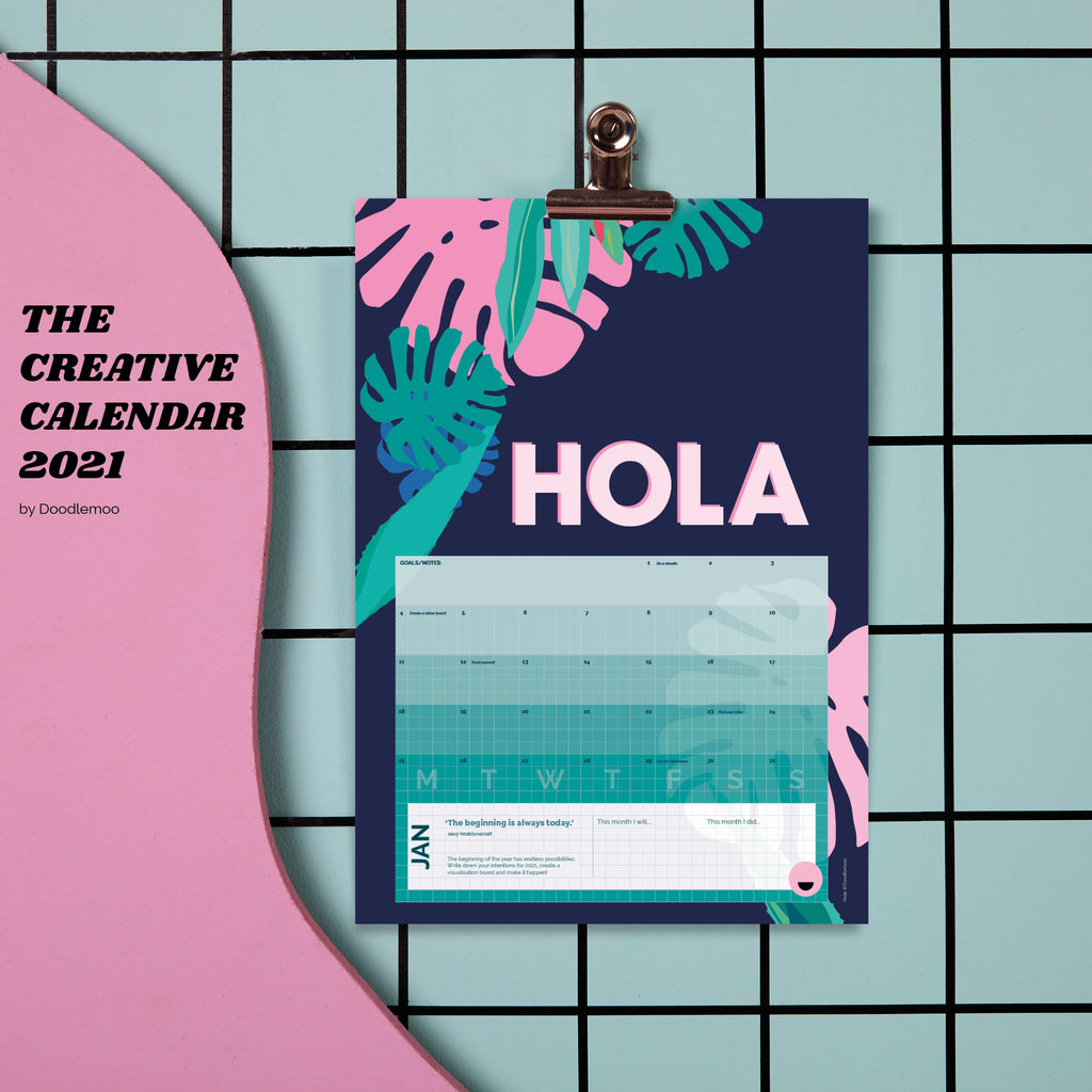 Calendar 2021 - The Creative Calendar - PRE ORDER now