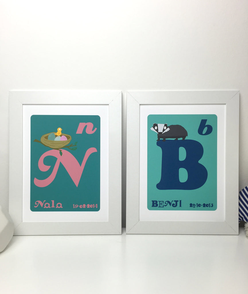 Letter & Name Print with character