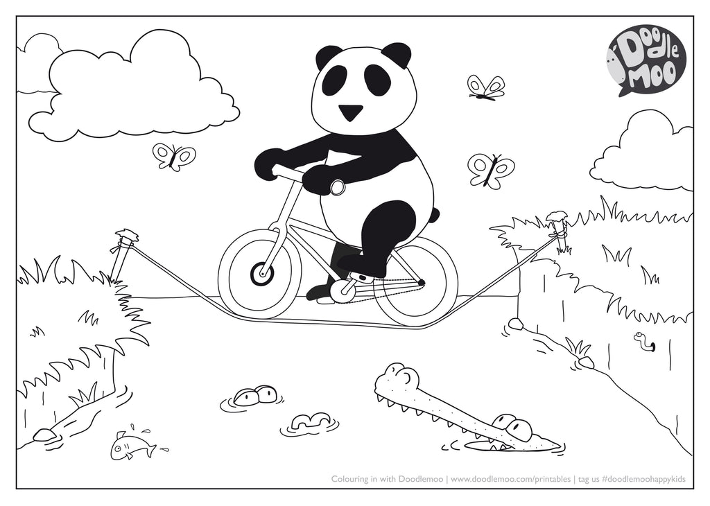 Panda colouring in sheet - free download