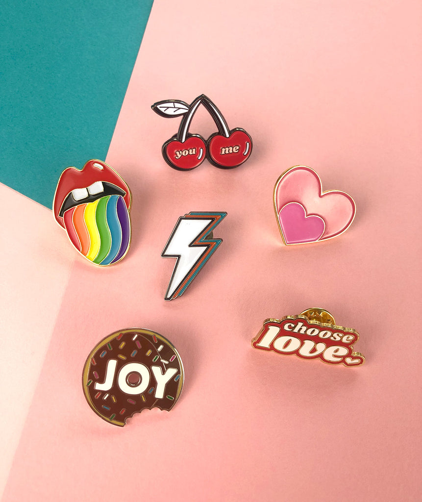 Pin collection by Doodlemoo. Find our six pin designs.