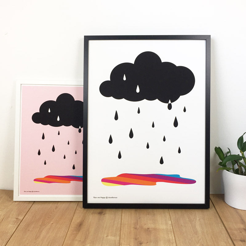 Cloud print Rain me happy