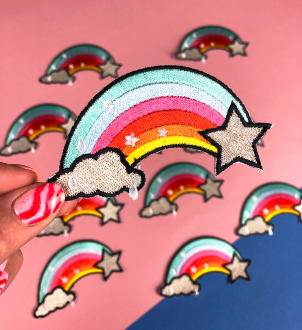 RAINBOW PATCH iron-on