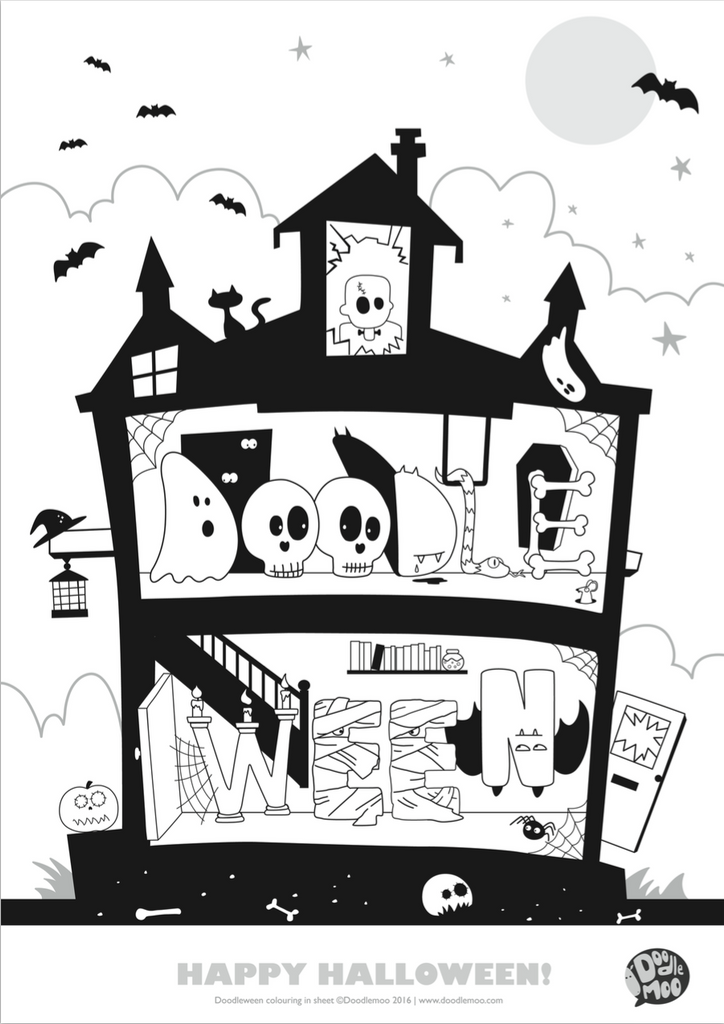 Halloween Colouring in poster