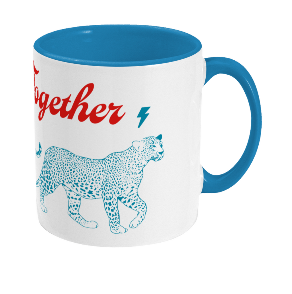 Two Toned Mug Leopards together