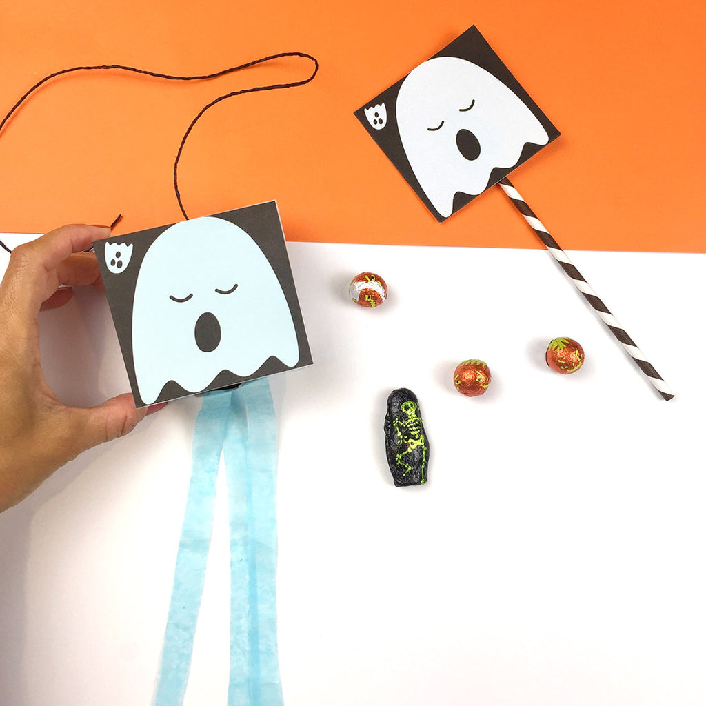 Sleepy ghosts halloween diy