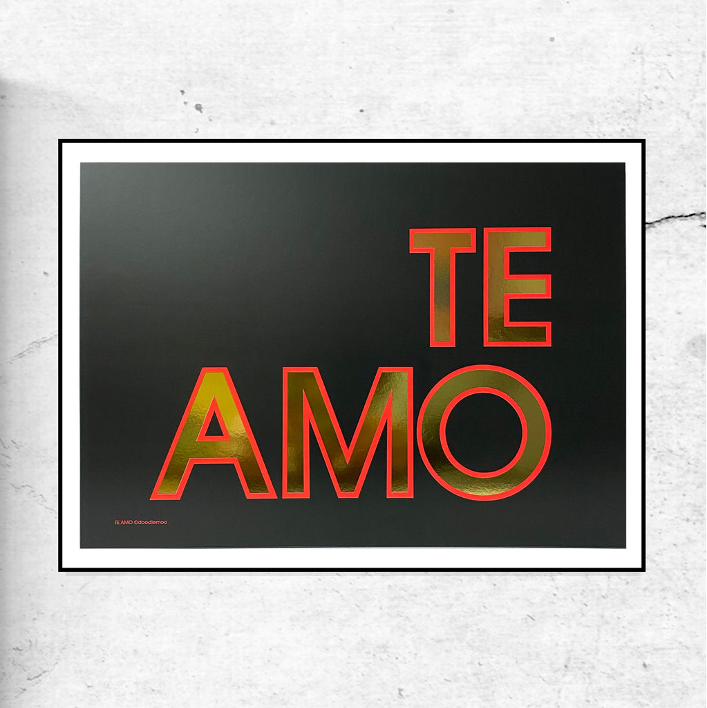 TE AMO Black & Gold - Special Edition Print
