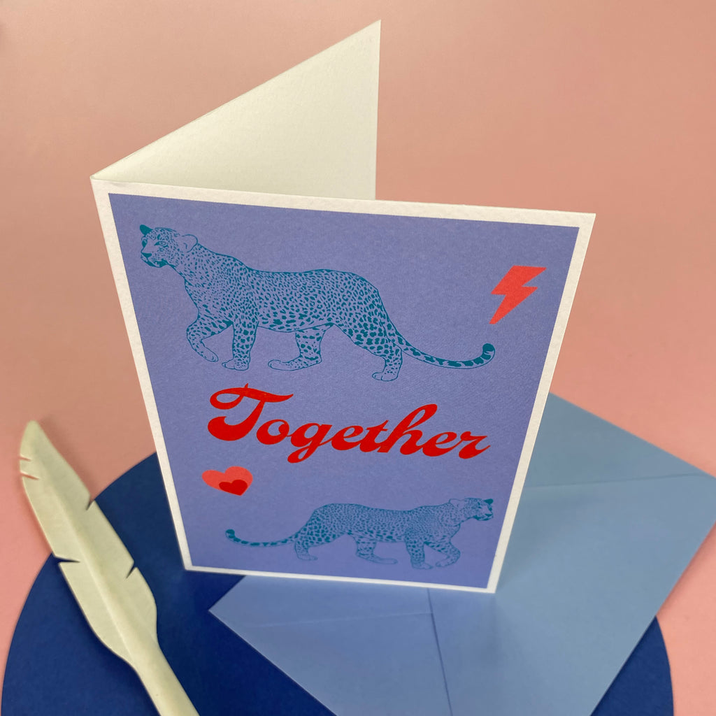 Together Leopards - Greetings Card