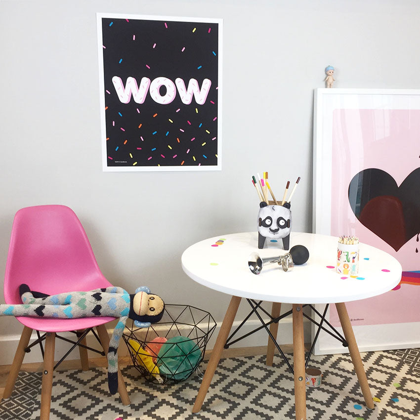 WOW and sprinkles print/poster