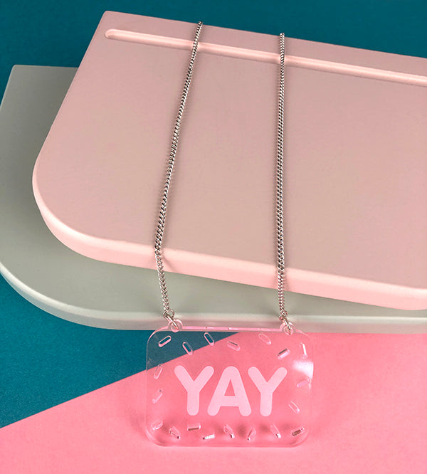YAY necklace by playful brand Doodlemoo