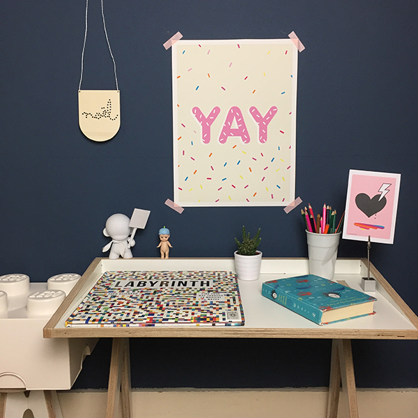 YAY and sprinkles print/poster; PINK