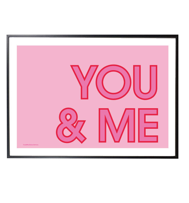 YOU&ME typographic print designed by Doodlemoo