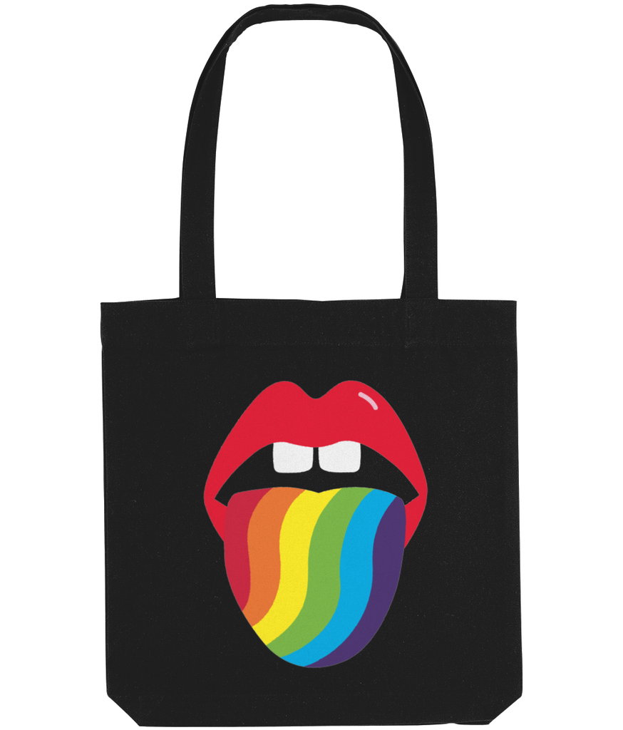 Kiss Me Rainbow- Rainbow Lips tote bag