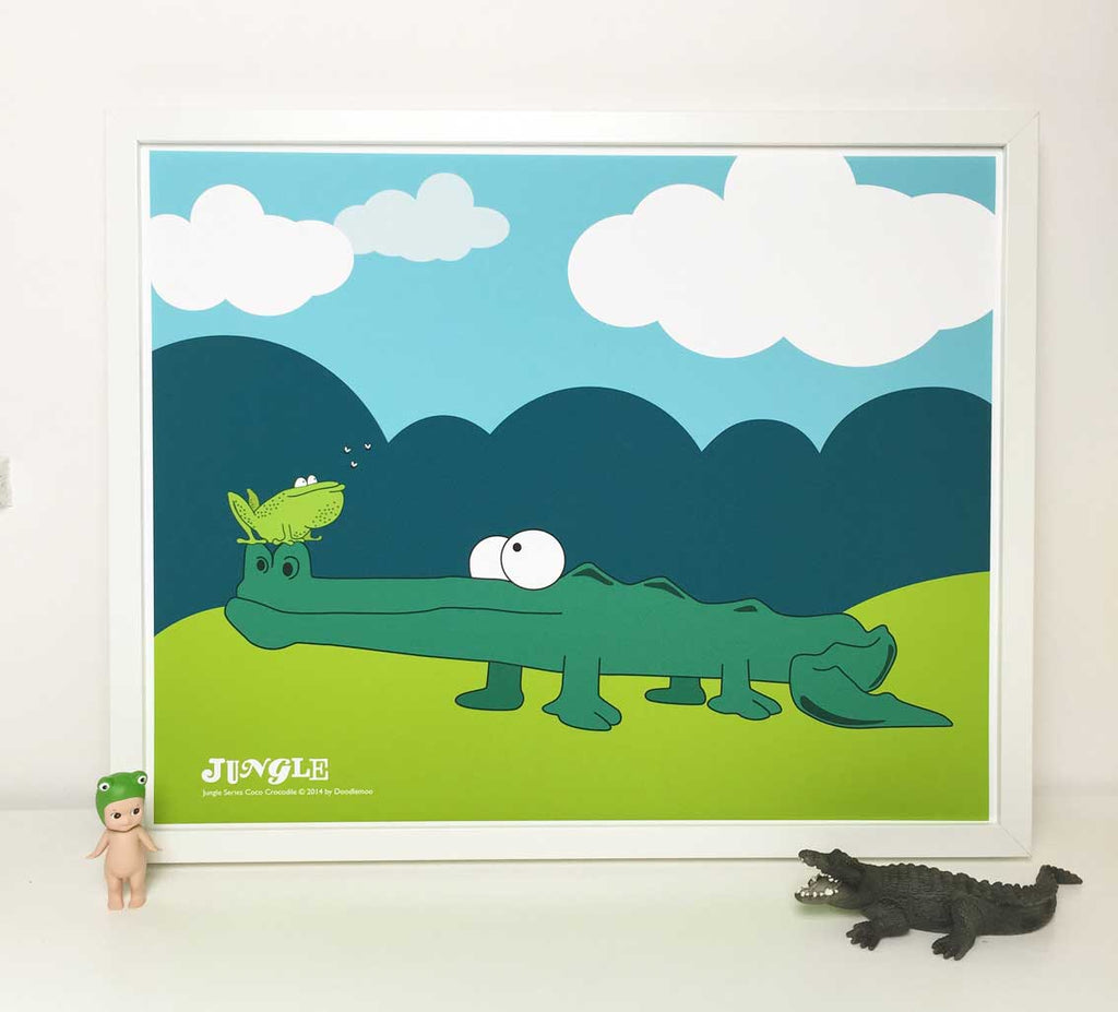 Crocodile kids print 'Coco'