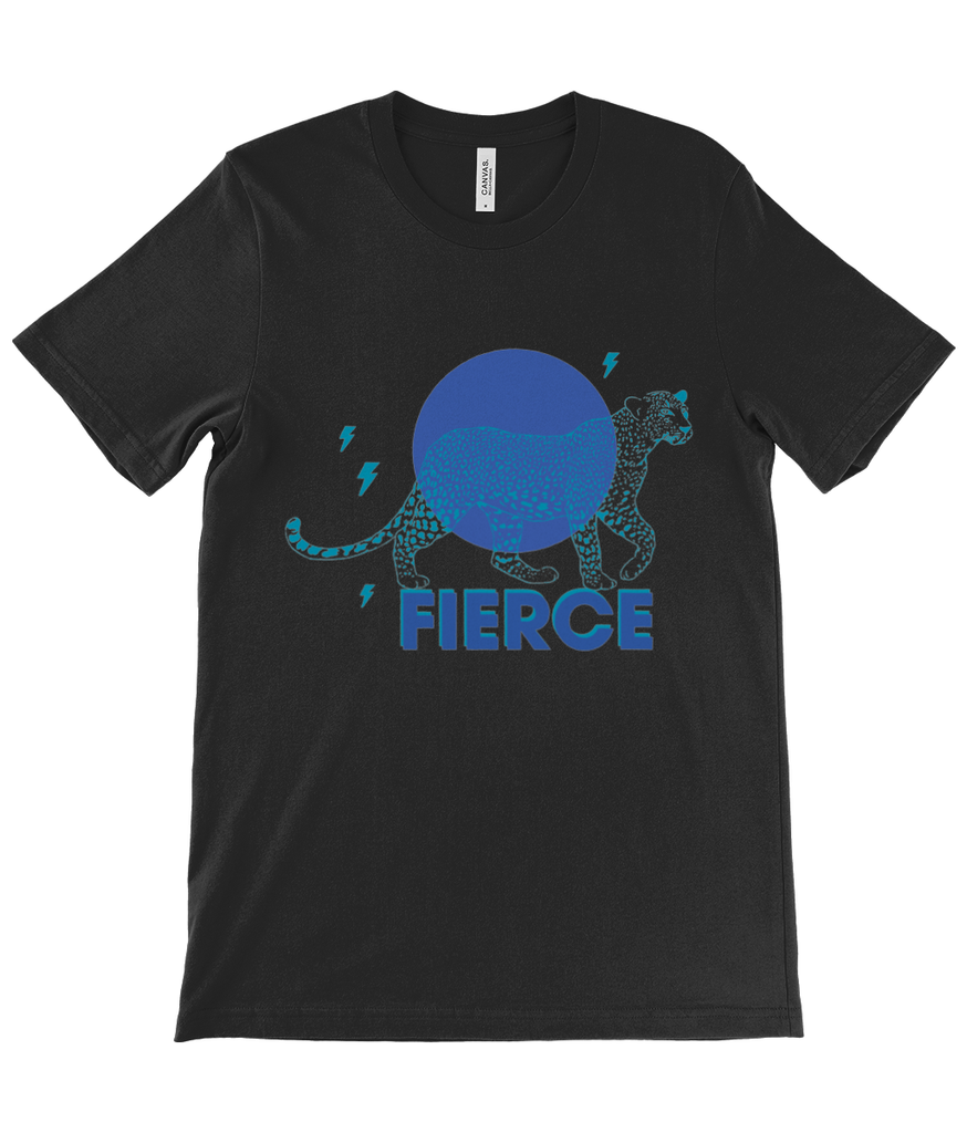 Canvas Unisex Crew Neck T-Shirt FIERCE BLUE