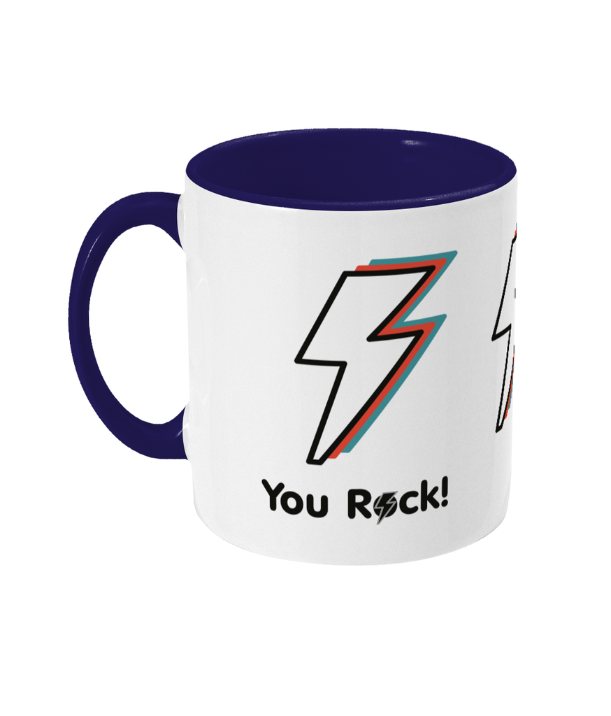 'You rock' mug - Two toned