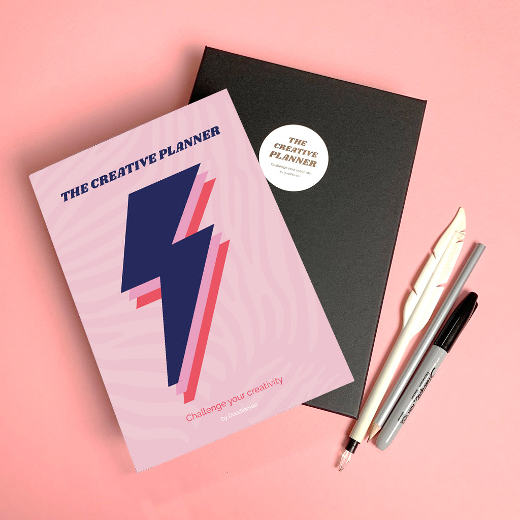 Planner with lightning bolt, designed by playful brand Doodlemoo