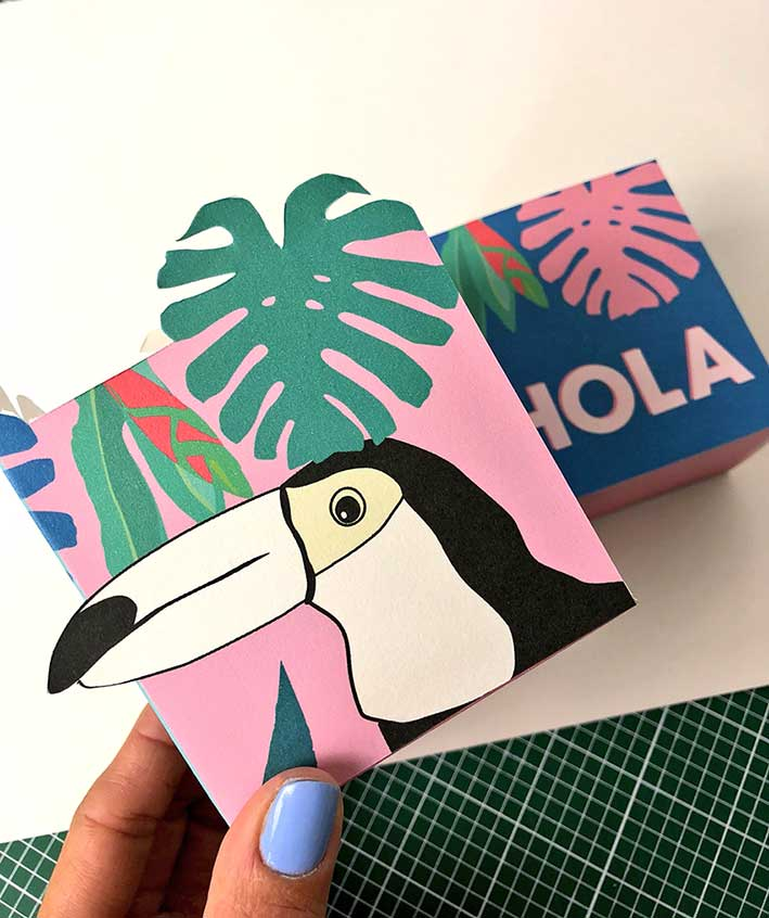 Tropical gift boxes DIY - Free Printable