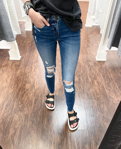 All Your Love Distressed Denim Jeans | Flying Monkey