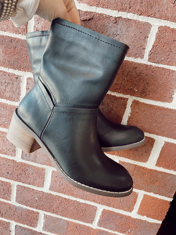 Call It Even Black Athena Booties