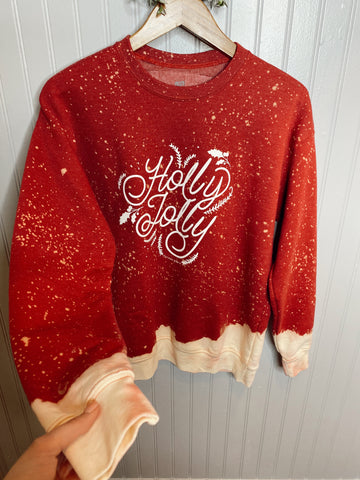 Holly Jolly Bleached Sweatshirt