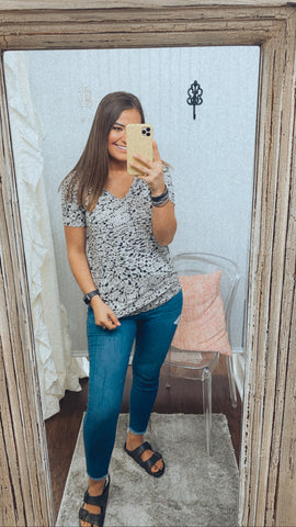 Grey Leopard Top | Dear John