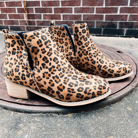 Been Saying Yes Leopard Booties