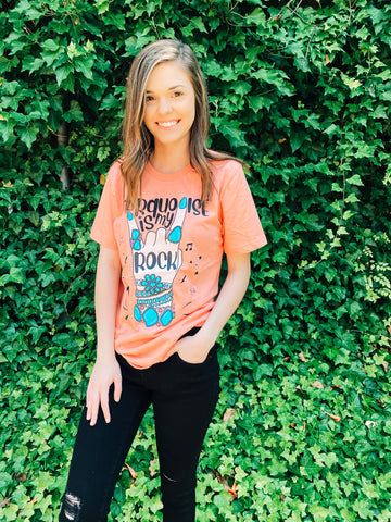 Turquoise Is My Rock Graphic Tee
