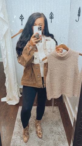 First to Leave Knit Sweater | Tan