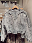 Take My Hand Sequin Fringe Denim Jacket