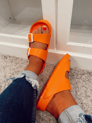 Waterslide Orange Sandals | Corky's