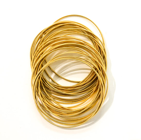 Gold Guitar String Bracelets