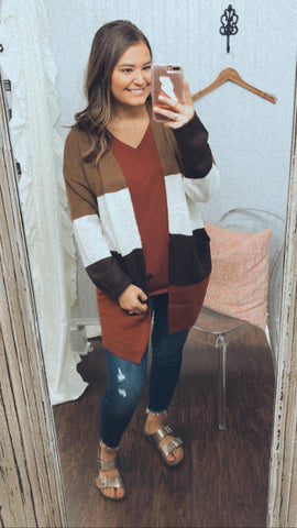 Gotta Have You Color Block Cardigan