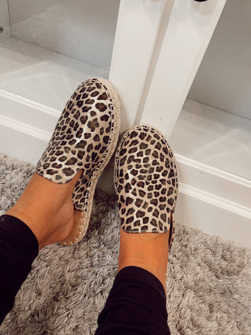 On My Mind Taffy Leopard Slip On's