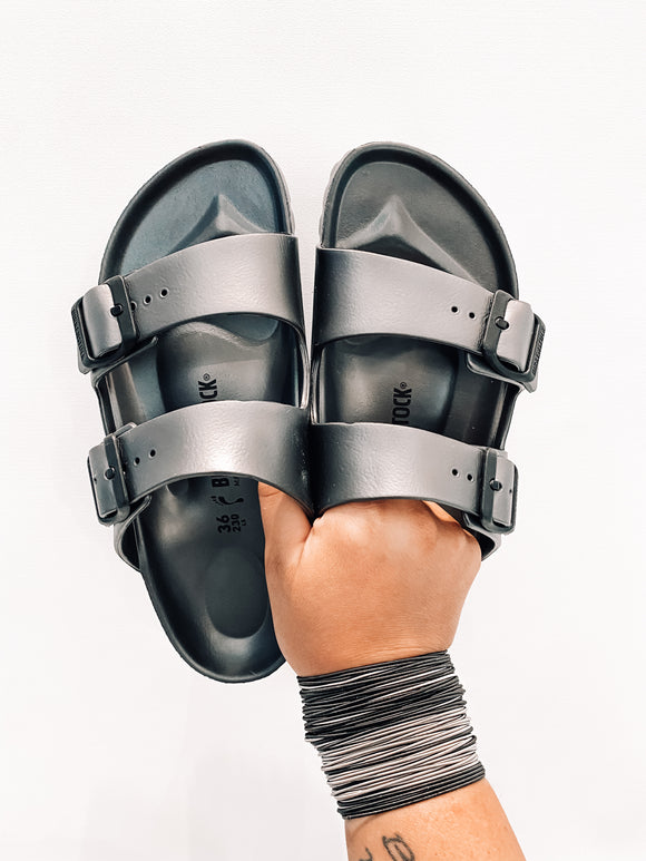 Waterproof Anthracite Birkenstock's